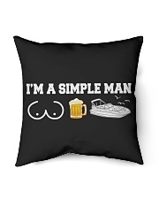 """DECK BOAT GIFT - SIMPLE MAN Indoor Pillow - 16"""" x 16"""" thumbnail"""