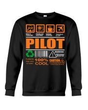 AIRPLANE GIFTS - LABEL DIRECTION WARNING Crewneck Sweatshirt thumbnail