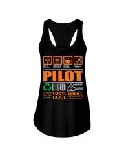 AIRPLANE GIFTS - LABEL DIRECTION WARNING Ladies Flowy Tank thumbnail