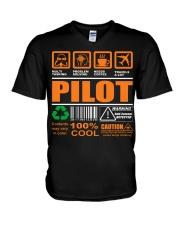 AIRPLANE GIFTS - LABEL DIRECTION WARNING V-Neck T-Shirt thumbnail