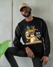 CRAFT BEER AND BREWING - BREW DOLPH Crewneck Sweatshirt apparel-crewneck-sweatshirt-lifestyle-front-08