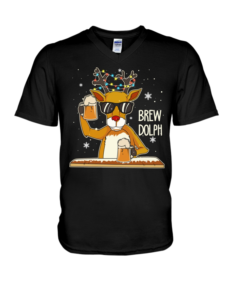 CRAFT BEER AND BREWING - BREW DOLPH V-Neck T-Shirt