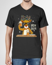 CRAFT BEER AND BREWING - BREW DOLPH V-Neck T-Shirt garment-vneck-tshirt-front-01