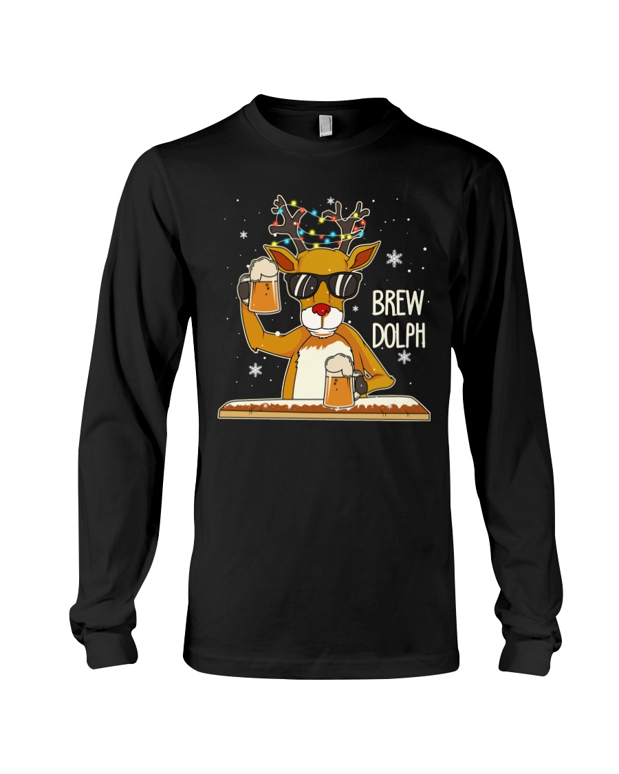 CRAFT BEER AND BREWING - BREW DOLPH Long Sleeve Tee