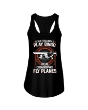 PILOT GIFT - REAL GRANDPAS FLY PLANES Ladies Flowy Tank thumbnail