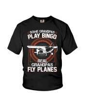 PILOT GIFT - REAL GRANDPAS FLY PLANES Youth T-Shirt tile
