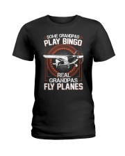 PILOT GIFT - REAL GRANDPAS FLY PLANES Ladies T-Shirt tile
