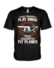 PILOT GIFT - REAL GRANDPAS FLY PLANES V-Neck T-Shirt thumbnail