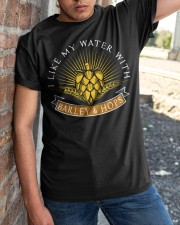 WATER WITH BARLEY AND HOPS  Classic T-Shirt apparel-classic-tshirt-lifestyle-27