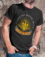 WATER WITH BARLEY AND HOPS  Classic T-Shirt lifestyle-mens-crewneck-front-4
