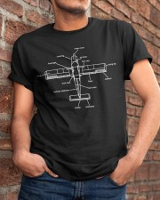 GREAT GIFT FOR PILOT - AIRPLANE DIAGRAM Classic T-Shirt apparel-classic-tshirt-lifestyle-26