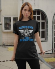AVIATION PILOT GIFT - GETTING HIGH Classic T-Shirt apparel-classic-tshirt-lifestyle-19