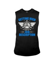 AVIATION PILOT GIFT - GETTING HIGH Sleeveless Tee tile
