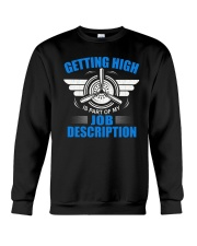 AVIATION PILOT GIFT - GETTING HIGH Crewneck Sweatshirt thumbnail