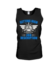 AVIATION PILOT GIFT - GETTING HIGH Unisex Tank thumbnail