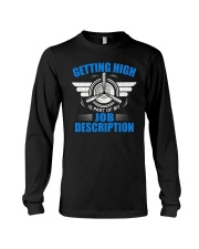 AVIATION PILOT GIFT - GETTING HIGH Long Sleeve Tee thumbnail