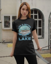 PONTOON BOAT GIFT - LIFE IS BETTER AT THE LAKE Classic T-Shirt apparel-classic-tshirt-lifestyle-19