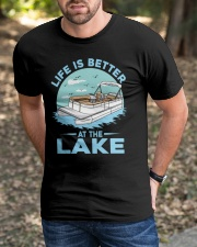 PONTOON BOAT GIFT - LIFE IS BETTER AT THE LAKE Classic T-Shirt apparel-classic-tshirt-lifestyle-front-52
