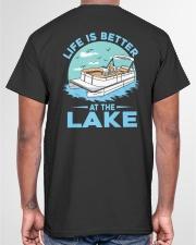 PONTOON BOAT GIFT - LIFE IS BETTER AT THE LAKE 2 Classic T-Shirt garment-tshirt-unisex-back-04
