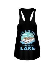 PONTOON BOAT GIFT - LIFE IS BETTER AT THE LAKE 2 Ladies Flowy Tank thumbnail