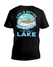 PONTOON BOAT GIFT - LIFE IS BETTER AT THE LAKE 2 V-Neck T-Shirt thumbnail