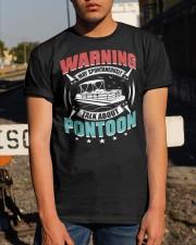 PONTOON BOAT GIFT - WARNING Classic T-Shirt apparel-classic-tshirt-lifestyle-29
