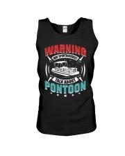 PONTOON BOAT GIFT - WARNING Unisex Tank thumbnail