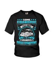 PONTOON BOAT GIFT - REAL GRANDPAS DRIVE PONTOON Youth T-Shirt tile