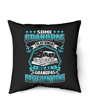 "PONTOON BOAT GIFT - REAL GRANDPAS DRIVE PONTOON Indoor Pillow - 16"" x 16"" thumbnail"