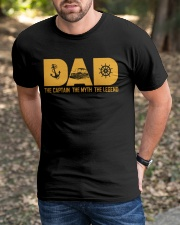 PONTOON BOAT GIFTS - DAD CAPTAIN MYTH LEGEND Classic T-Shirt apparel-classic-tshirt-lifestyle-front-52