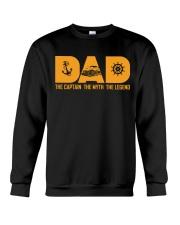 PONTOON BOAT GIFTS - DAD CAPTAIN MYTH LEGEND Crewneck Sweatshirt thumbnail