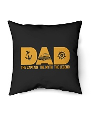 """PONTOON BOAT GIFTS - DAD CAPTAIN MYTH LEGEND Indoor Pillow - 16"""" x 16"""" thumbnail"""