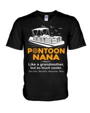 PONTOON BOAT GIFT - PONTOON NANA DEFINITION V-Neck T-Shirt thumbnail