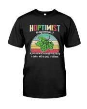 CRAFT BEER BREWERY HOPTIMIST VINTAGE DEFINITION Classic T-Shirt front
