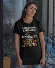 PONTOON BOAT GIFT - SEPTEMBER PONTOON WOMAN Classic T-Shirt apparel-classic-tshirt-lifestyle-08
