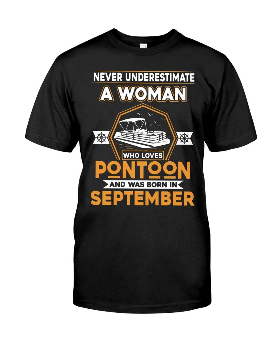 PONTOON BOAT GIFT - SEPTEMBER PONTOON WOMAN Classic T-Shirt