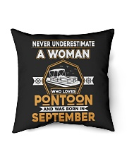 "PONTOON BOAT GIFT - SEPTEMBER PONTOON WOMAN Indoor Pillow - 16"" x 16"" thumbnail"