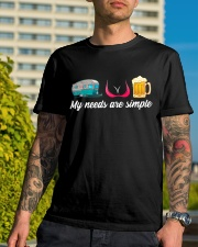 CRAFT BEER LOVER - CAMPING AND GIRLS AND BEST BEER Classic T-Shirt lifestyle-mens-crewneck-front-8