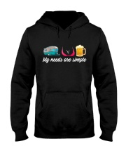 CRAFT BEER LOVER - CAMPING AND GIRLS AND BEST BEER Hooded Sweatshirt thumbnail