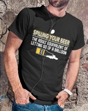 TRULY DRINK - SPILLING YOUR BEER Classic T-Shirt lifestyle-mens-crewneck-front-4