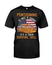 PONTOON BOAT GIFTS - 2020 SURVIVAL SKILL Classic T-Shirt front