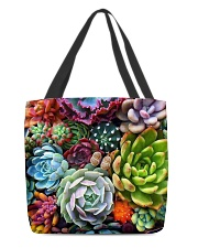 succulents flowers  All-over Tote thumbnail