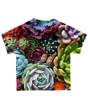 succulents flowers  All-over T-Shirt back