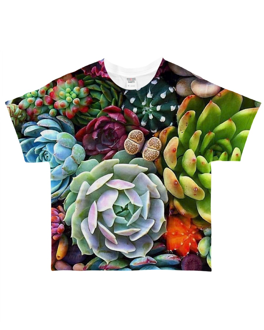 succulents flowers  All-over T-Shirt