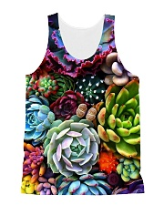 succulents flowers  All-over Unisex Tank thumbnail
