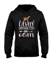 Easily Distracted By Goats Shirt Farmer Goat Gifts Hooded Sweatshirt thumbnail