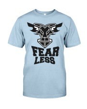 Fear Less Black Goat Shirt Farmer Shirt Goat Shirt Classic T-Shirt front