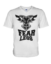 Fear Less Black Goat Shirt Farmer Shirt Goat Shirt V-Neck T-Shirt thumbnail