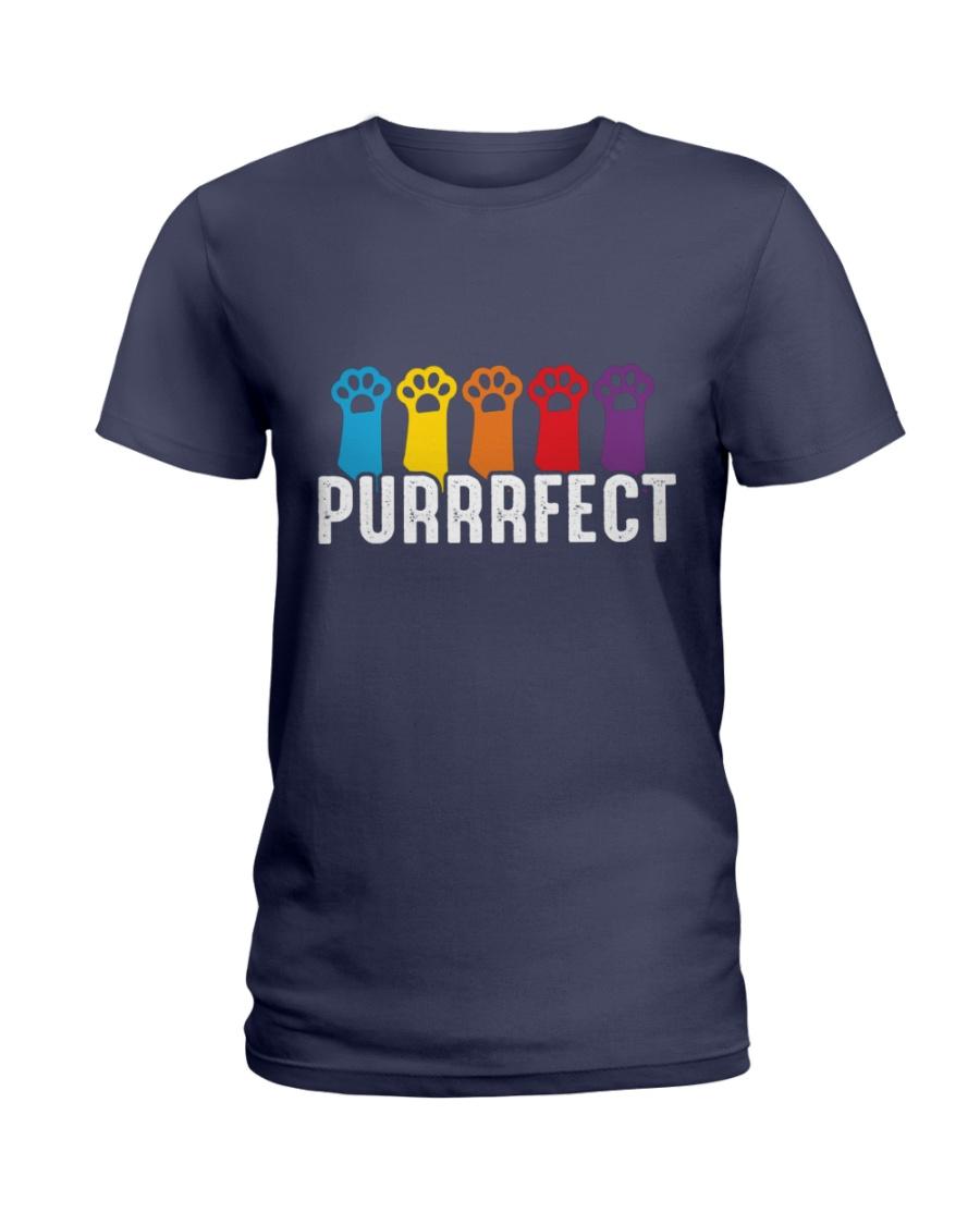 Purrrfect Cat Paw T-shirt Ladies T-Shirt