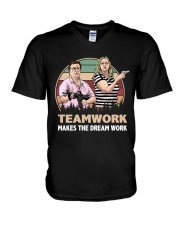 Teamwork  V-Neck T-Shirt thumbnail